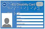Exemple d'European Disability Card : Exemple d'European Disability Card - Enlarge the image